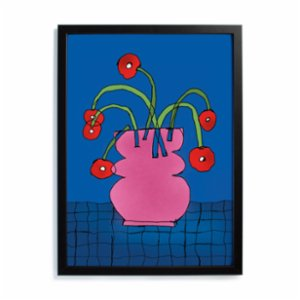 Studio These Days  Poppy in a Pink Vase Print