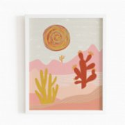 Omm Creative  Flower In The Desert Poster