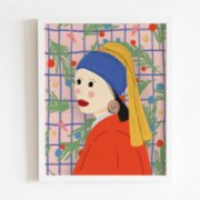 Omm Creative  Sugar Earring Girl Poster