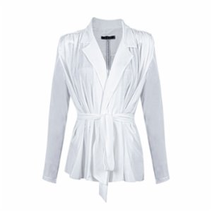 Rivus  Regular Fit Belted Blouse - Jacket
