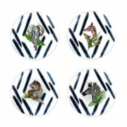 Fern&Co.  Serengeti Colleciton The Wild Mix Dinner Plate Set (Set of 4)