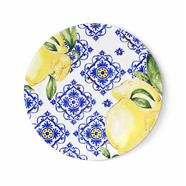 Fern&Co. Amalfi Coast Collection Dinner Plate Set (Set of 4)