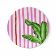 Fern&Co.  Miami Pink Beach Collection Dinner Plate Set (Set of 4)