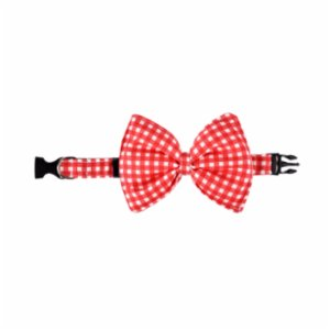 Rock'n Dogs  Red And White Plaid Bow tie