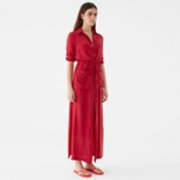 Giyi  Buttondown Utility Pockets Maxi Cupro Dress