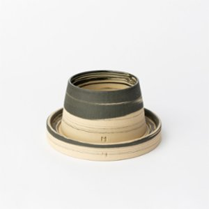 Masuma Ceramics  Midnight Espresso Cup & Glass Plate