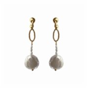 Mihaniki Design	  Drop Pearl Earrings