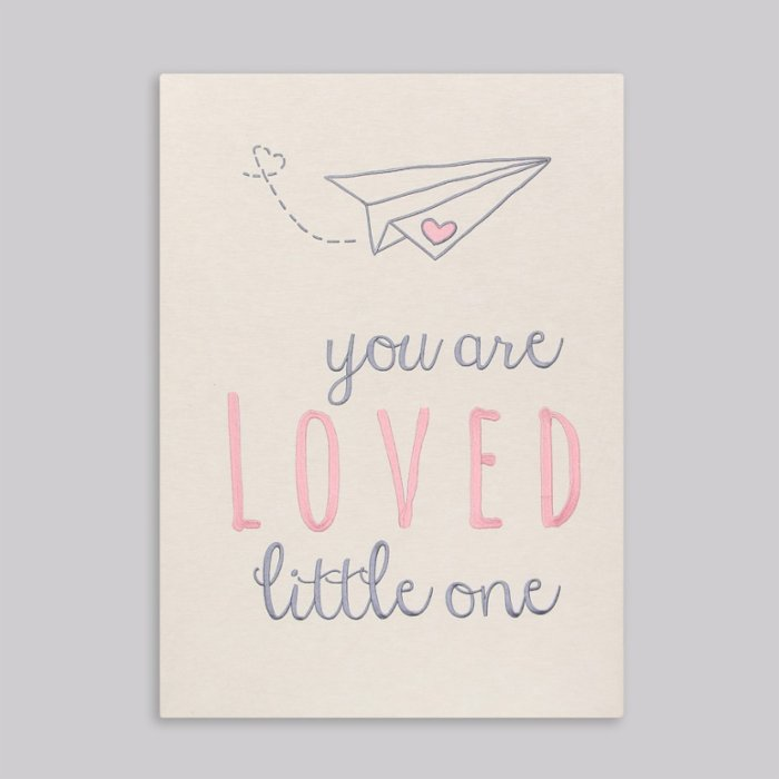 2 Stories You Are Loved Little One Embroidered Frame