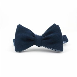 Moris  Abyssal Double Sided Bound Butterfly Bow Tie