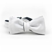 Moris  Black White Double Sided Batwing Bow Tie