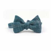 Moris  Green Plaid Tie Butterfly Bow Tie