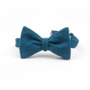 Moris  Butterfly Bow Tie With Blue Rings