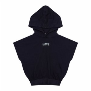Bassigue  Rubber Black Crop Hoodie
