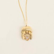 Mi Mujer Atelier  Opal Stag Beetle Charm - I
