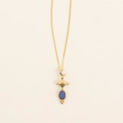 Mi Mujer Atelier  Crescent  With Blue Opal Charm