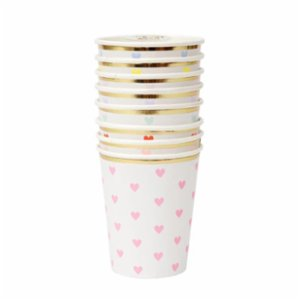 Meri Meri  Party Palette Heart Paper Cups 8Set
