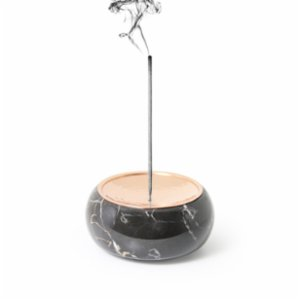 Coho Objet  Magma Torus Terre Marble Incense Holder With Copper Plate
