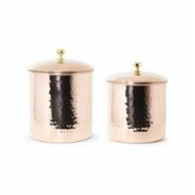 Coho Objet	  Artisan Elegant Copper Hammered Spice Jar Set Of 2 - I