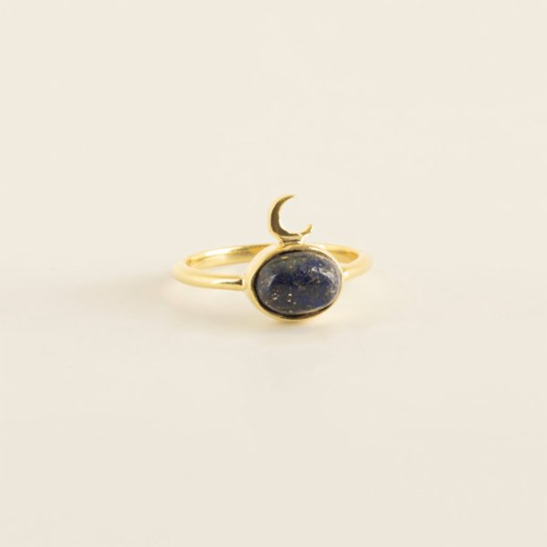 Mi Mujer Atelier Midnight Ring With Lapis Lazuli