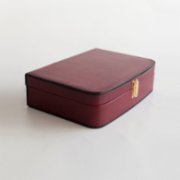 Tuhafier  Red Leather Vintage Travel Kit