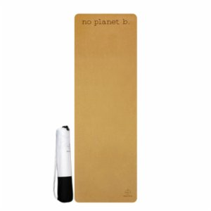 Seeka Yoga  Cork Surface Natural Rubber Yoga Mat - No Planet B.