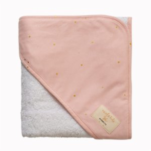 Miela Kids  Hooded Towel - Gold Dots