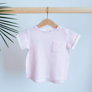 Miela Kids  Pink Striped T-Shirt - Don't Call Me Baby