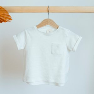 Miela Kids  Organic Gray Striped T-shirt - Cry Like There's No Tomorrow