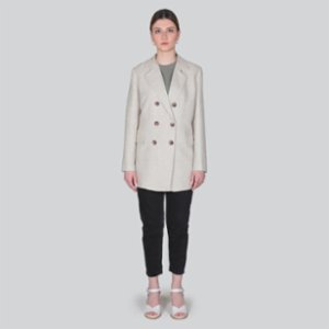 Gardrop Studio 900  Beige Double-Breasted Jacket