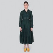 Gardrop Studio 900  Green Tulle Shirt & Skirt Set
