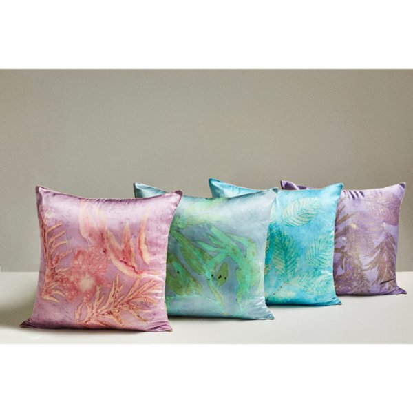 Tien Officiel Handcrafted Natural Dye Silk Cushion XIII