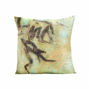 Tien Officiel  Handcrafted Natural Dye Silk Cushion XII