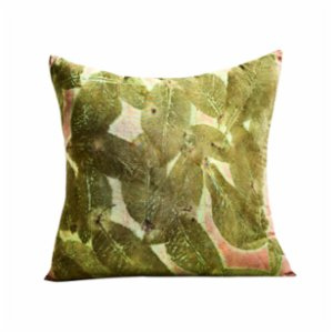 Tien Officiel  Handcrafted Natural Dye Silk Cushion XXI