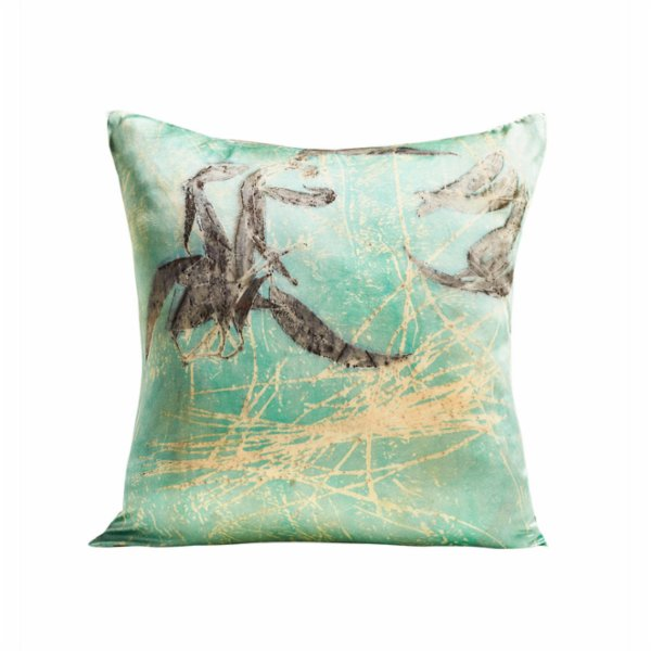 Tien Officiel Handcrafted Natural Dye Silk Cushion XI