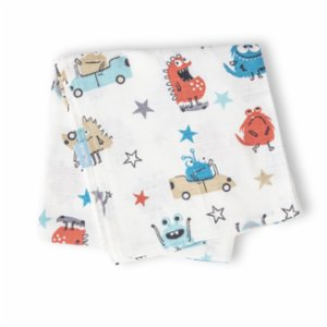 Hipopotam Baby  Little Monsters Muslin Throw