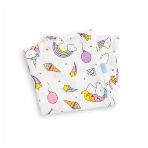 Hipopotam Baby  Unicorn Muslin Throw