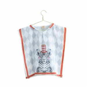 Nilue   Tiger Muslin poncho