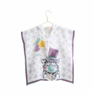 Nilue  Cat Muslin Poncho