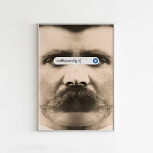 Every Other Day  Random Smiley Nietzsche Print