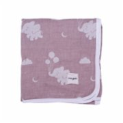 Miniyoki  Elephant in the Sky Muslin Jacquard Blanket