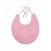 Miniyoki  Pretty in Pink Bib - Pompom Lace