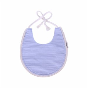 Miniyoki  Blue Flow Bib - Braided Ribbon