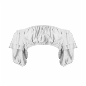 Rivus  Viscose Crop Top With Frills
