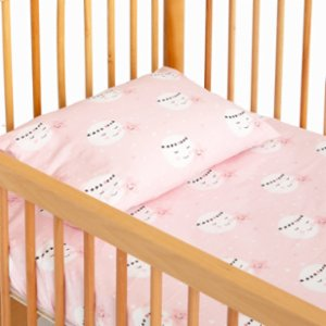 Hipopotam Baby  Pink Dreams Sheet and Pillow Set