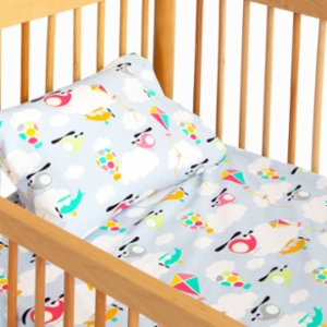 Hipopotam Baby  Colorful Wings Sheet and Pillow Set