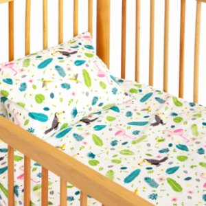 Hipopotam Baby  Bird Paradise Sheet and Pillow Set
