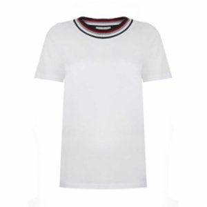 Pia Brand  Stripy Neck T-Shirt  - I