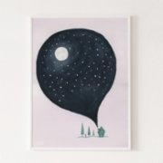 Wallthinks  Moon Matt Fibre Printing