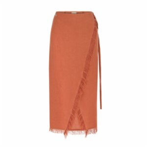 Dor Raw Luxury  Deeply Rooted Linen Skirt
