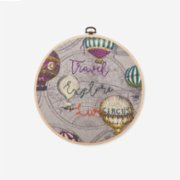 Baluna  Travel-Explore-Live Embroidered Hoop